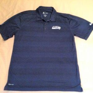 Nike Polo Seattle Seahawks Blue Size L NWOT